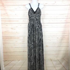 Express Snakeskin Print Halter Maxi Dress Sz S